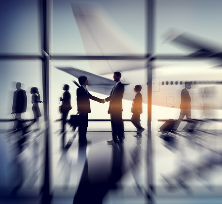 business travel: Airport Airplane Business Travel Terminal Transportation Commuter Concept