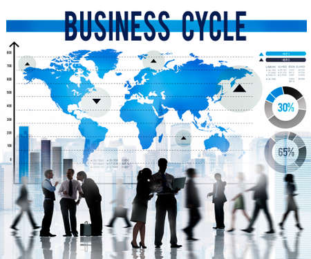 business cycle: Business Cycle Process Strategy Growth Concept