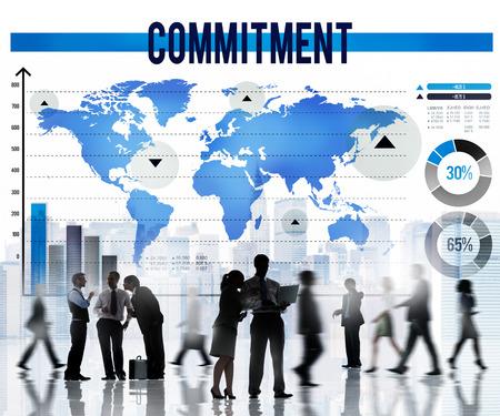 pledge: Commitment Promise Conviction Devotion Pledge Concept