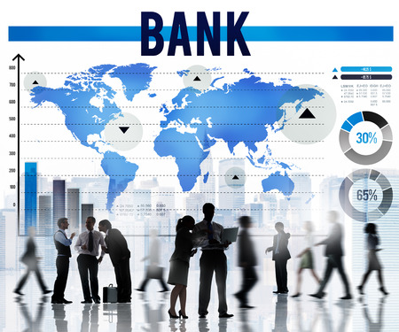 Bank Banking Financiën Investeringsgeld Concept