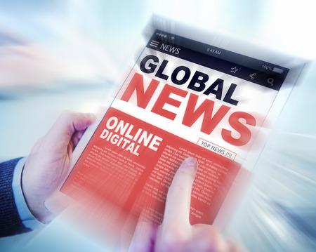 news update: Digital Online Update Global News Concept