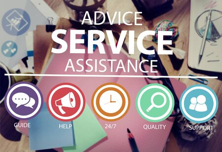 Advice Service Assistance Customer Care Support Concept photo
