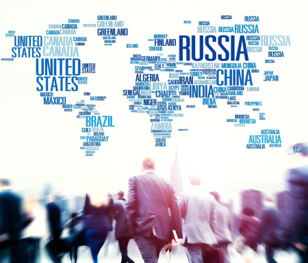 other world: Russia Global World International Countries Globalization Concept Stock Photo