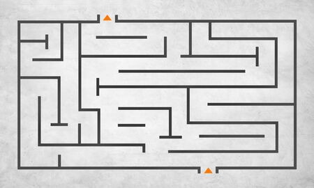 no way out: Maze Puzzle Strategy Direction Strategy Challenge Concept Stock Photo