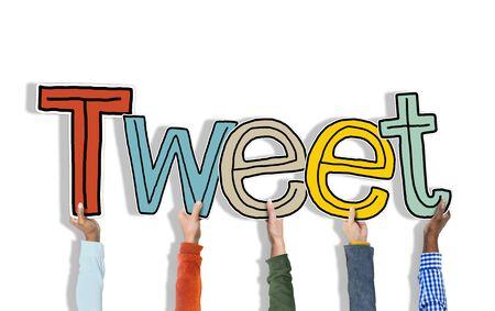 tweet: Group of Hands Holding Letter Tweet