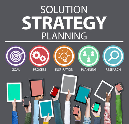 social network icon: Strategy Business Goals Solution Success Concept