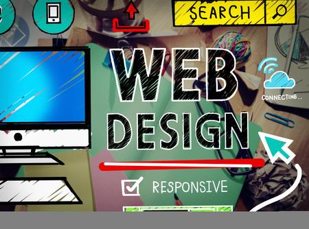 Web Design Development Style Ideeën Interface Concept