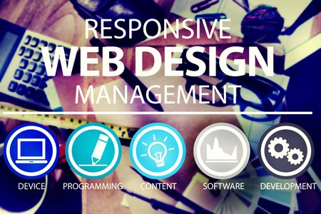 website plan: Responsive Web Design Management Programming Concept