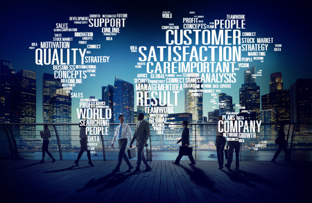 support services: Customer Satisfaction Reliability Quality Service Concept Stock Photo