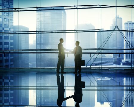 global partnership: Handshake Business People Team Support Meeting Conference Concept Stock Photo