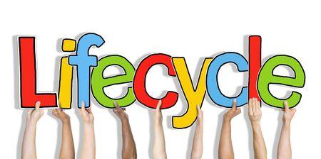 ciclo de vida: Armas Lifecycle Alzar colorido Multiétnico Concepto Vivo