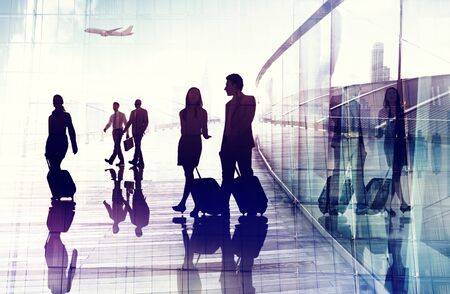 business travel: Business Travel Airport Commuter Corporate Professional Occupation Concept