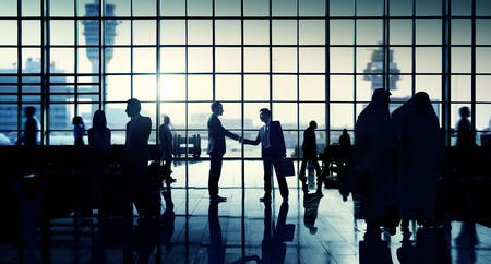 airport window: International Airport Business Travel Airport Terminal Concept