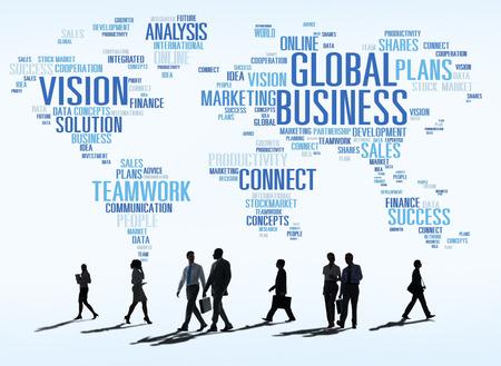 世界商業人のグローバル ビジネス コンセプト