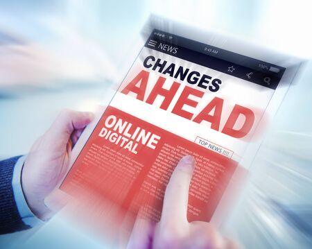 news online: Digital Online News Changes Ahead Future Working Concept