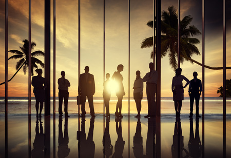 united people: Business People Corporate Beach Summer Office Concept Stock Photo