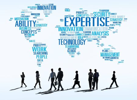 qualified worker: Expertise Career Job Profession Occupation Concept Stock Photo
