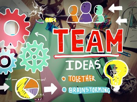 Teamwork Team Collaboration Connection Togetherness Unity Concept photo