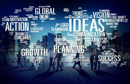 men ideas: Global Business People Commuter Walking Ideas Concept Stock Photo