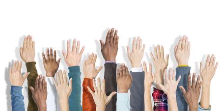 manos levantadas: Grupo de las manos levantadas y Antecedentes