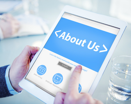 about us: Digital Online Information About us Business Concept