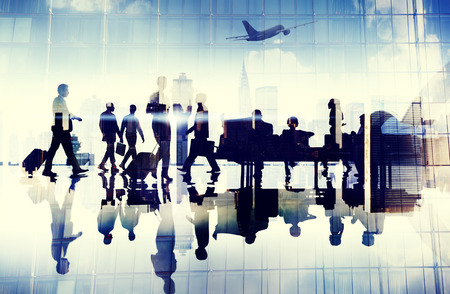 people travelling: Airport Travel Business People Terminal Corporate Flight Concept