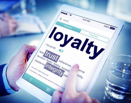meaning: Digital Online Dictionary Meaning Loyalty Concept