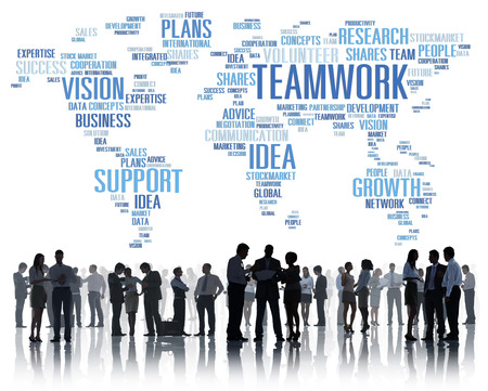 trabajando en equipo: Global Business People Reunión Soporte Trabajo en equipo Concepto Foto de archivo