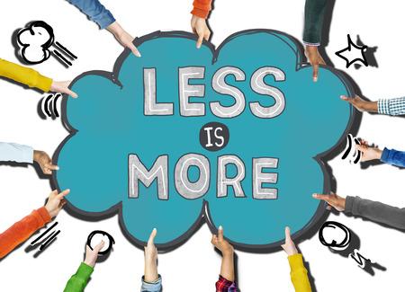 Less is More Minimal Simplicity Efficient Complexity Concept Reklamní fotografie