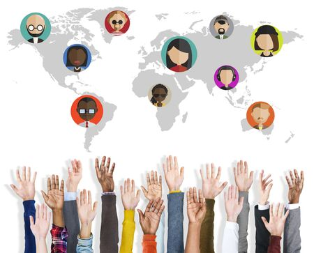 community: Global Community World People Social Networking Connection Concept