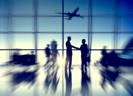 business travel: Airport Airplane Air Transportation Business Travel Concept