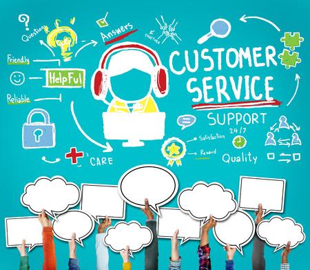 顧客サービスのコール センター エージェント ケア概念