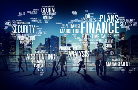 finance concept: Global Finance Business Financial Marketing Money Concept