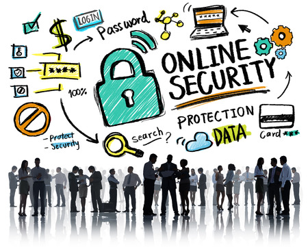 internet safety: Online Security Protection Internet Safety Business Communication Concept