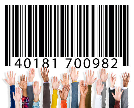 Ordinal: Barcode Identity Marketing Concept Stock Photo