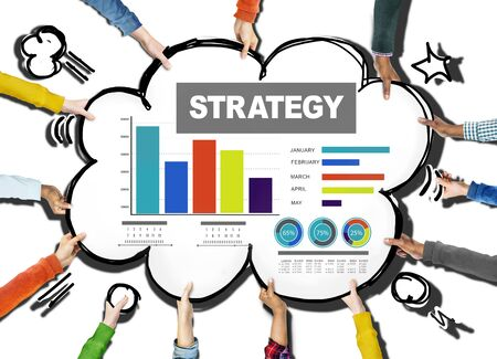 Strategy Data Information Plan Marketing Solution Vision Concept photo