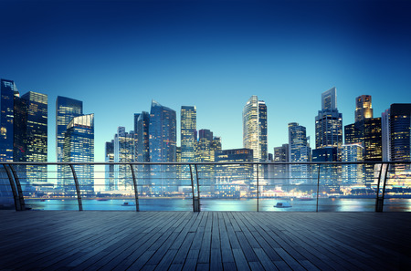 cityscape: Cityscape Architecture Building Business Metropolis Reflection Concept Stock Photo
