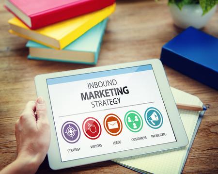 Inbound Marketing Strategia Pubblicità Commerciale Branding Concetto Archivio Fotografico - 41323284