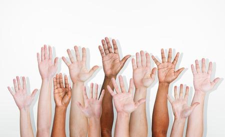 Handen divers diversiteit ethnicity etnisch Variatie Unity Concept