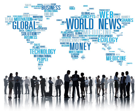 infomation: World News Globalization Advertising Event Media Infomation Concept Stock Photo