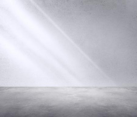 コンクリートの部屋コーナー影日光壁紙概念