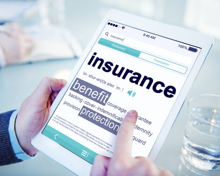 Digital Dictionary Insurance Benefits Protection Concept Stock Photo
