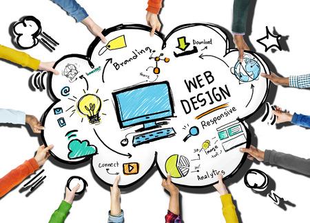 Contenido Creatividad Digital Diseño Gráfico Diseño Web Página Web Concept Foto de archivo - 41323751