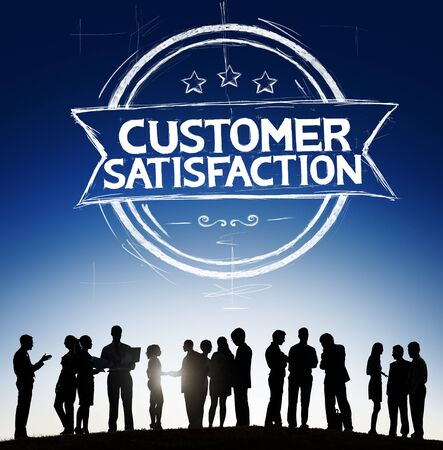 customer support: Customer Satisfaction Support Service Quality Concept Stock Photo