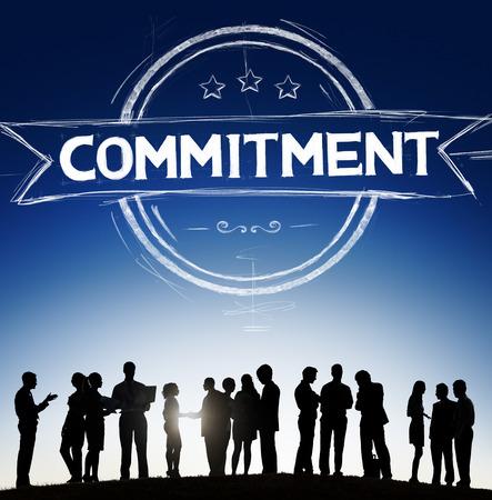 Commitment Devotion Dedication Conviction Concept