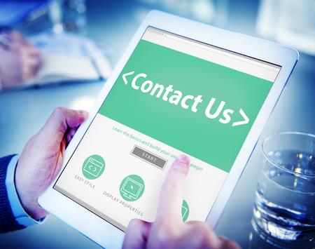 online service: Digital Online Business Service Contact us Concept