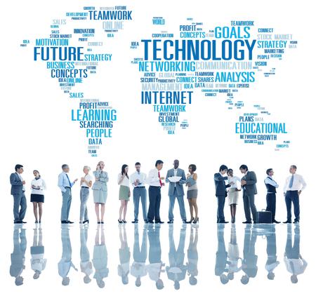 Conexión Tecnología Networking Comunicación Global Concept