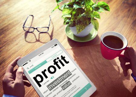Profit Investment Digital Divice Business Income Sales Concept