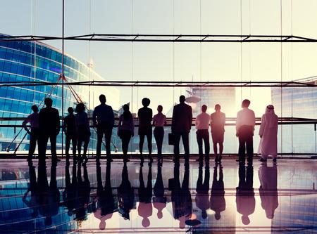 mision: Negocio Global Corporate Equipo Visión Misión Concepto Foto de archivo