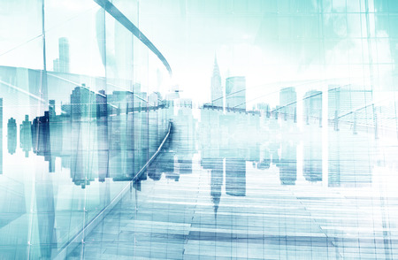 fondos azules: Resumen Vista de Escena y Rascacielos Urbano